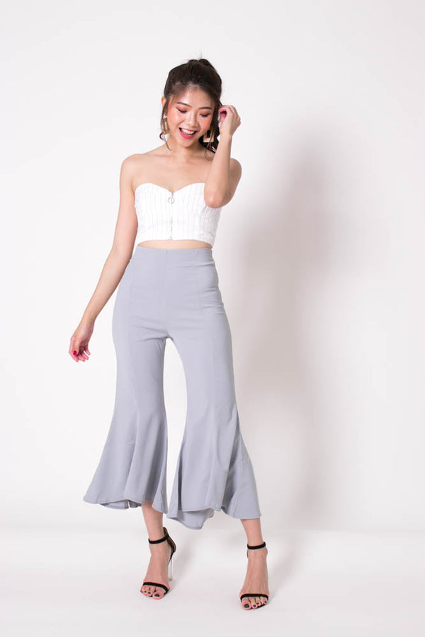 *PREMIUM* Velrilia Bell Pants in Grey - Self Manufactured by LBRLABEL