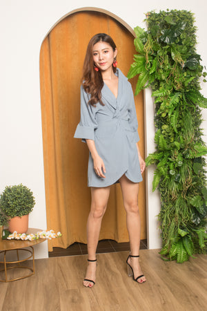 Refeh Button Down Tunic in Blue