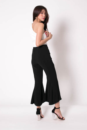 *PREMIUM* Velrilia Bell Pants in Black - Self Manufactured by LBRLABEL