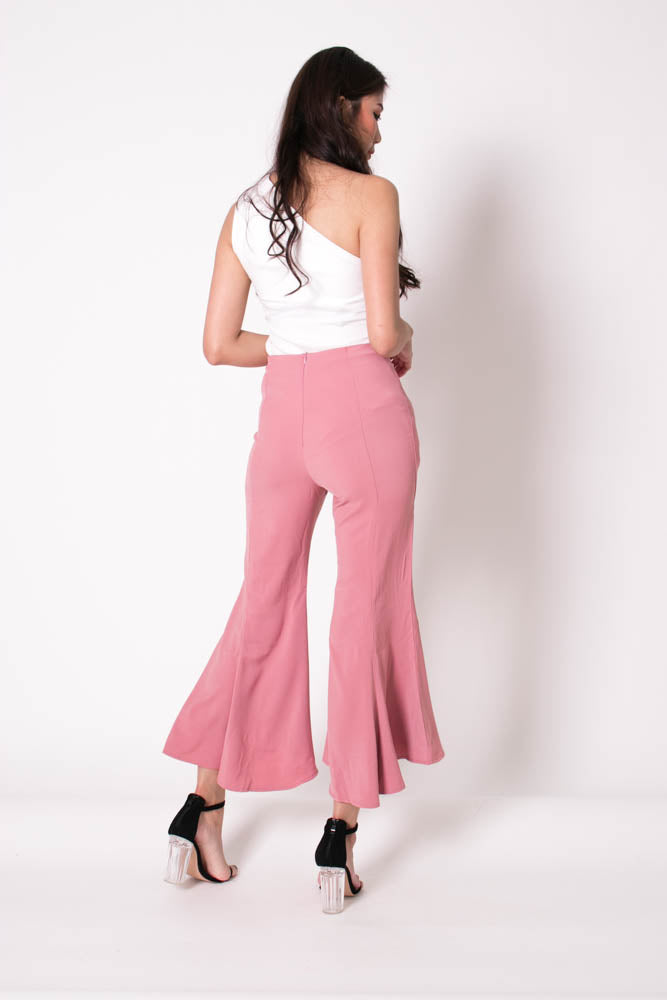 Load image into Gallery viewer, *PREMIUM* Velrilia Bell Pants in Pink - Self Manufactured by LBRLABEL