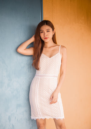 * PREMIUM * Selelia Crochet Dress in White - SELF MANUFACTURED BY LBRLABEL