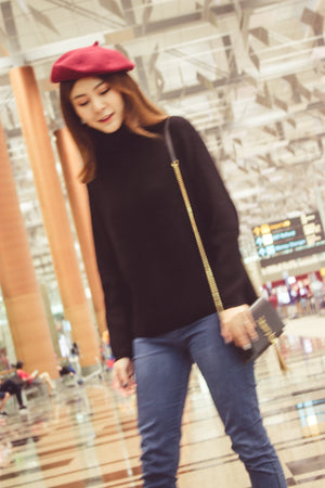 Elasa Knit Top in Black