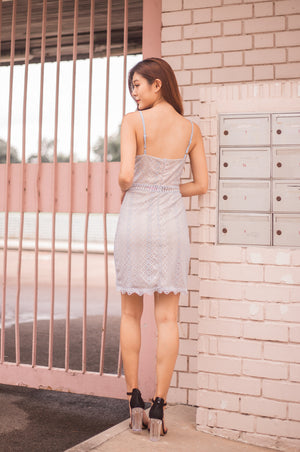 * PREMIUM * Selelia Crochet Dress in Blue - SELF MANUFACTURED BY LBRLABEL