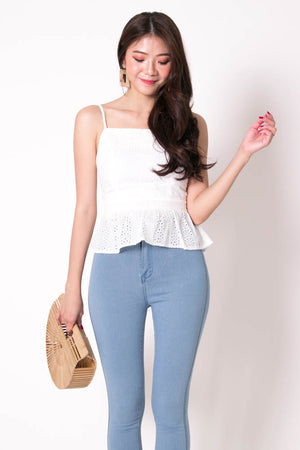 *PREMIUM* Cocolia Eyelet Top in White - Self Manufactured by LBRLABEL