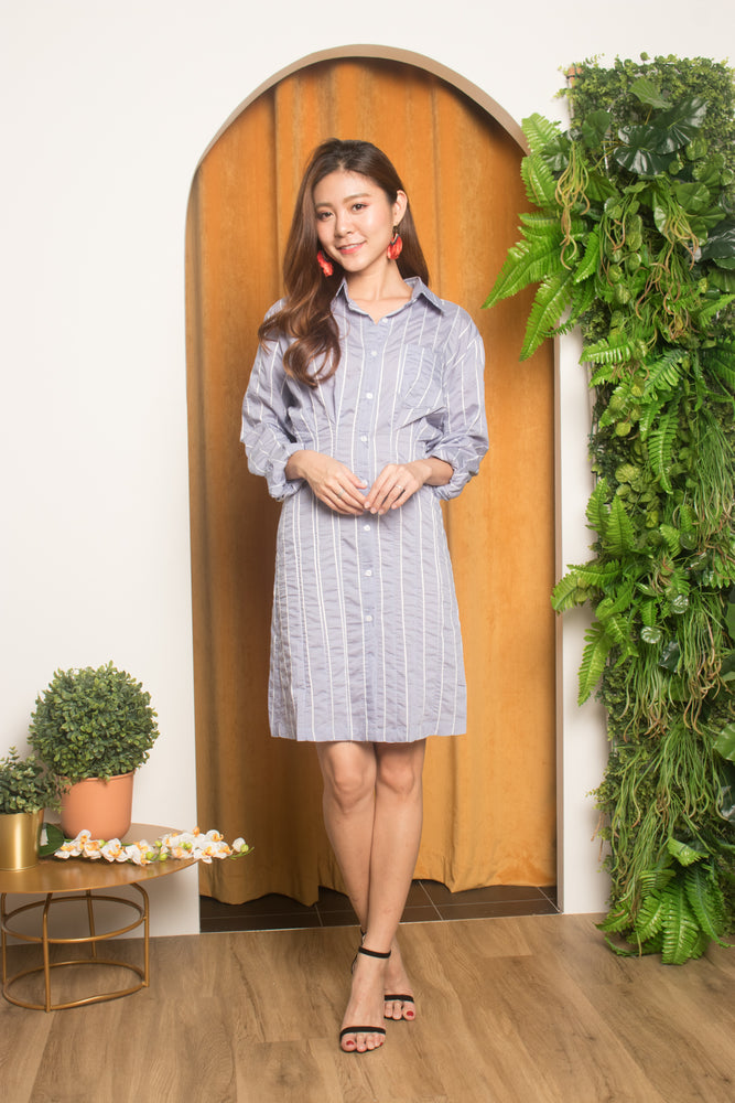 Load image into Gallery viewer, Keida Boyfriend Shirt Dress