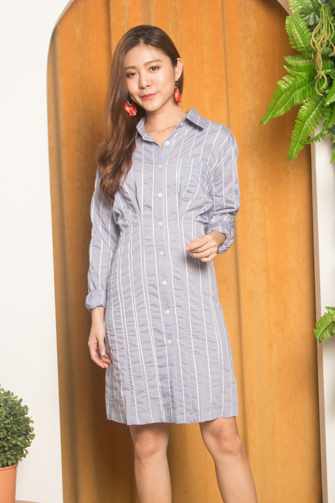 Keida Boyfriend Shirt Dress