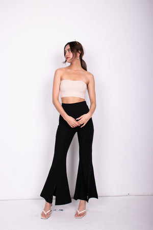 * LUXE * Wenna Slit Gown Dress in White
