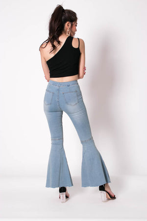 Isabelle Bell Jeans in Light Denim