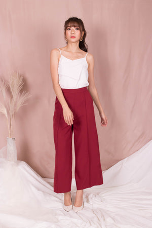 Load image into Gallery viewer, *PREMIUM* - Teslia Pants in Wine Red - Self Manufactured by LBRLABEL