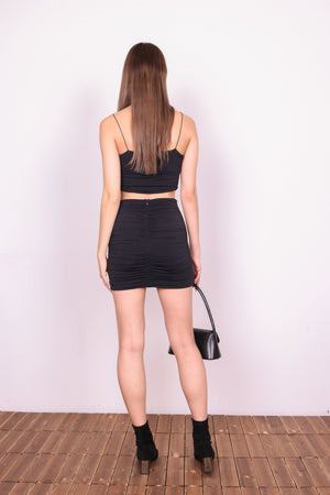 * LUXE * Xina Floral Offsie Maxi Dress in Black