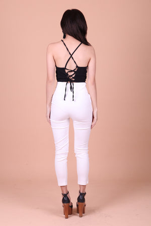 Peraline Criss Back Top in Black
