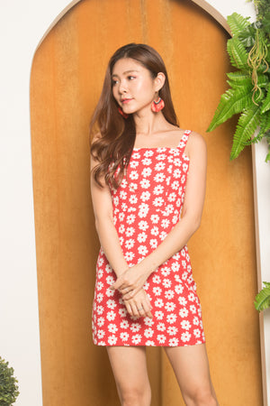 Sunny Sunflower Dress in Red