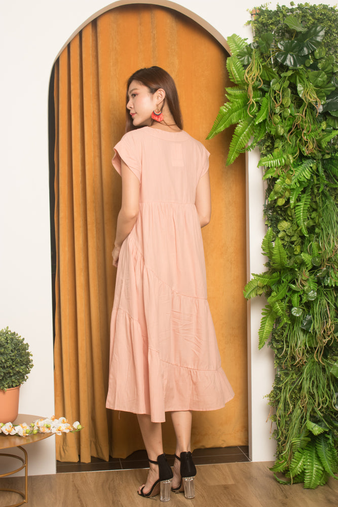 Load image into Gallery viewer, Serfina Flare Layer Dress in Pink