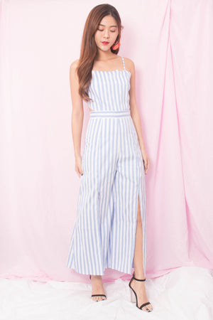 * PREMIUM* Ailia Stripes Jumpsuit in Blue - SELF MANUFACTURED BY LBRLABEL