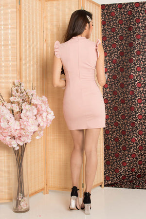 Fuman Cheongsam Dress in Pink