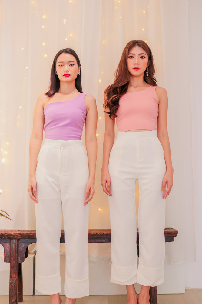 Load image into Gallery viewer, * PREMIUM * - RACHLIA 2 WAYS TOGA TOP IN LILAC * - Self Manufactured by LBRLABEL only