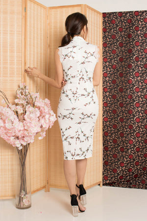 Load image into Gallery viewer, Xianing Cheongsam Floral Dress