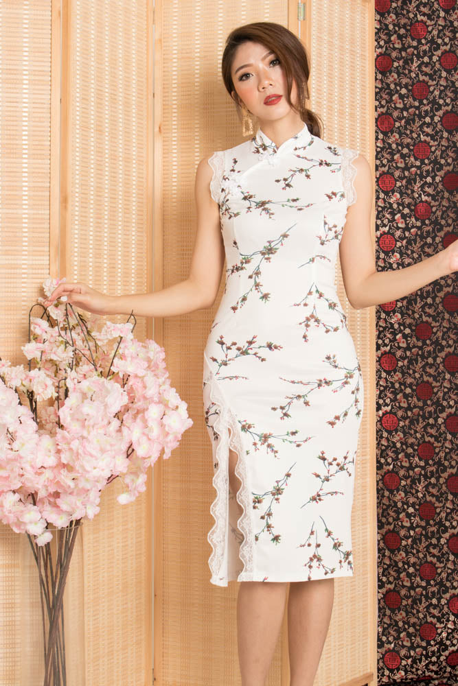 Xianing Cheongsam Floral Dress