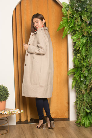 * PREMIUM * Fionleia Button Down Coat in Grey