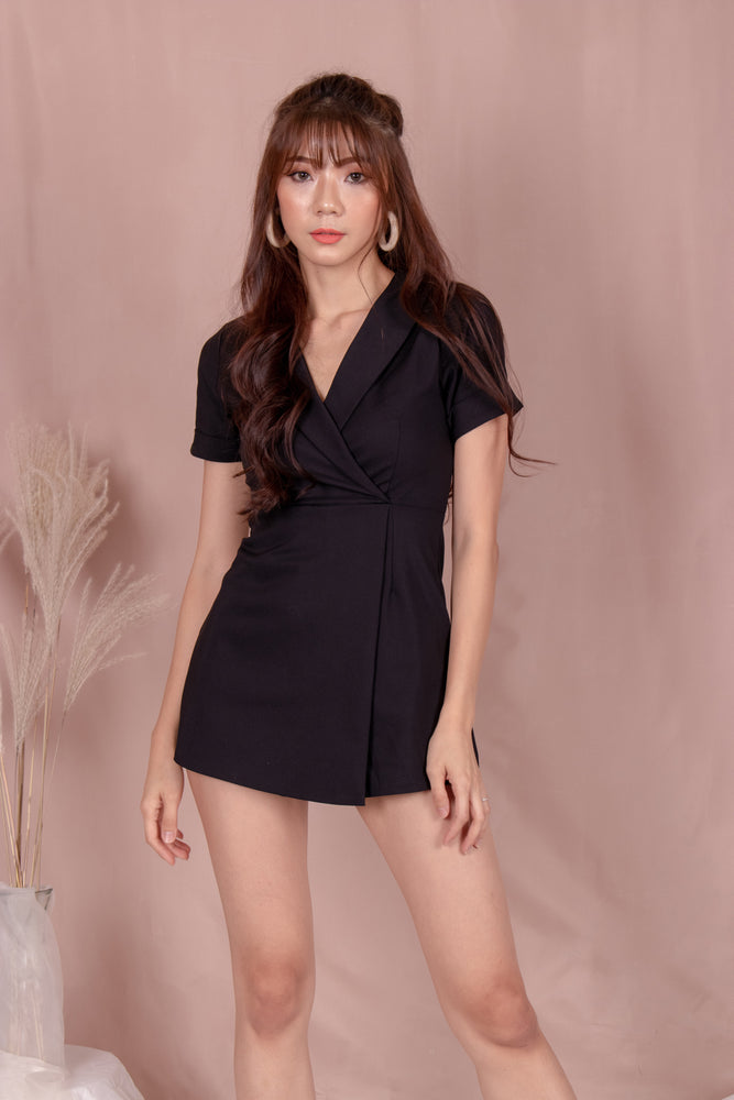 Load image into Gallery viewer, *PREMIUM* - Kolia Romper in Black - Self Manufactured by LBRLABEL