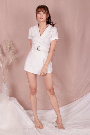 Load image into Gallery viewer, *PREMIUM* - Kolia Romper in White - Self Manufactured by LBRLABEL