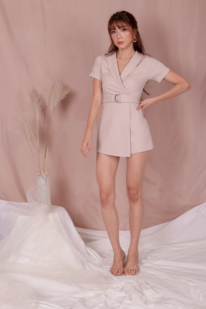 Load image into Gallery viewer, *PREMIUM* - Kolia Romper in Khaki - Self Manufactured by LBRLABEL