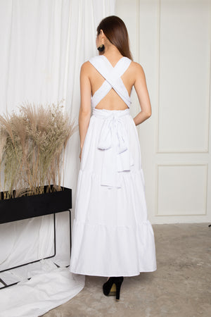 LUXE - Paris Lover Do it Yourself Maxi Dress in White