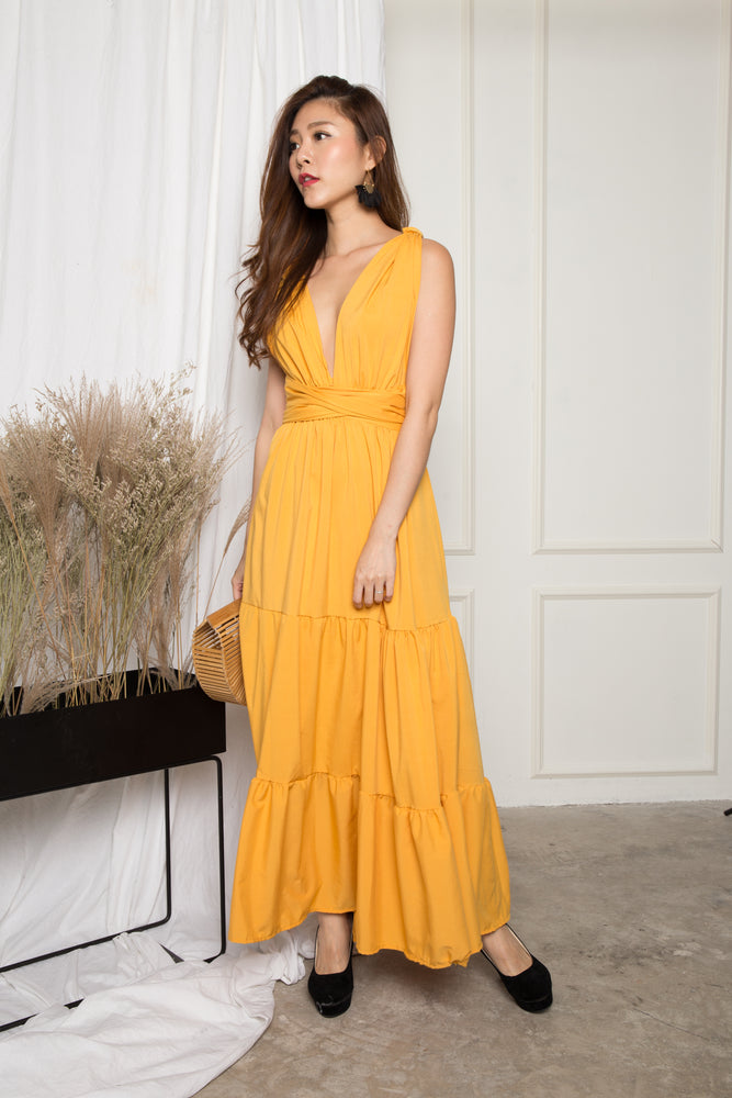 Load image into Gallery viewer, LUXE - Paris Lover Do it Yourself Maxi Dress in Yellow