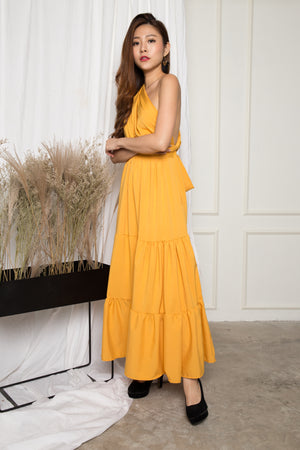 LUXE - Paris Lover Do it Yourself Maxi Dress in Yellow