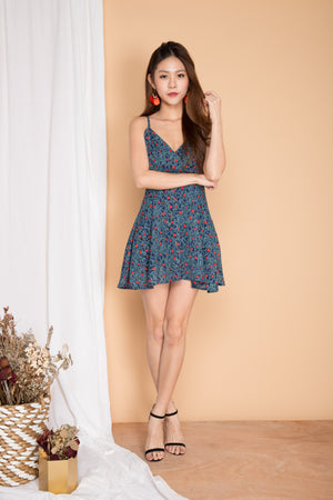 Parisa Printed Babydoll Dress