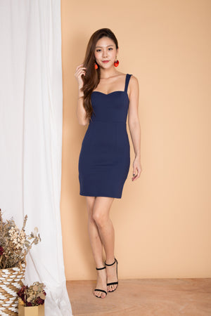 *PREMIUM* IVYLIA SWEETHEART BUSTIER DRESS IN NAVY - LBRLABEL MANUFACTURED