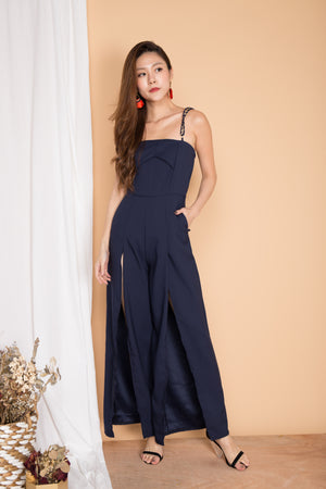 Avianna Chain Jumpsuit in Navy