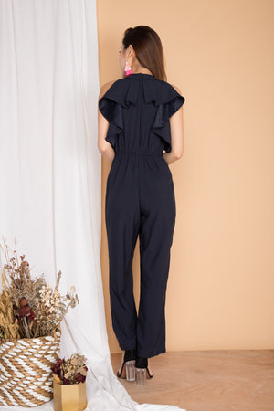 Pearlyna Flutter Jumpsuit in Navy