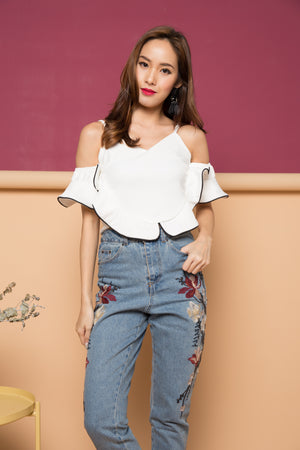 Aurelia Offsie Top in White