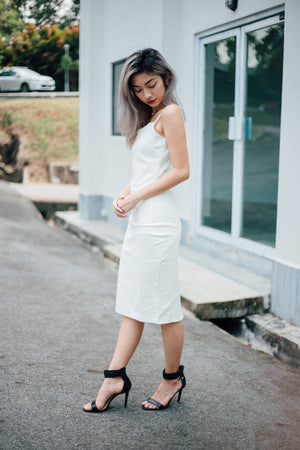 Christina Midi Dress in White