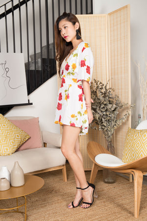 Abby Floral Romper