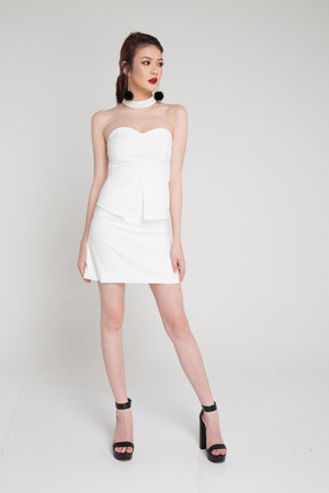 Angie Choker Dress in White