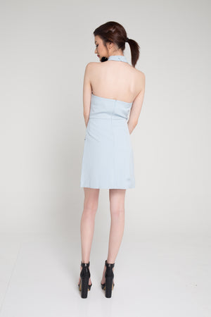 Angie Choker Dress in Blue