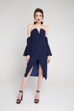 Bethverla Bustier Dress in Navy