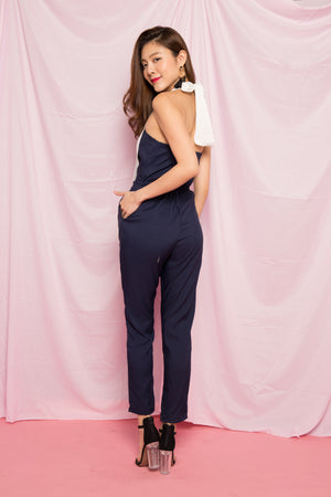 Mave Halter Jumpsuit in Navy