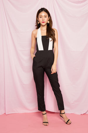 Mave Halter Jumpsuit in Black