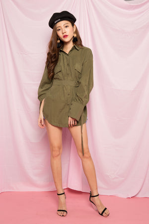Irina Oversized Tunic in Green