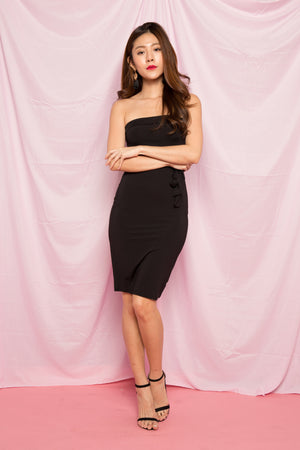 Lynde Basic Bustier Dress in Black