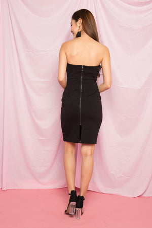 Asa Bustier Tube Dress in Black