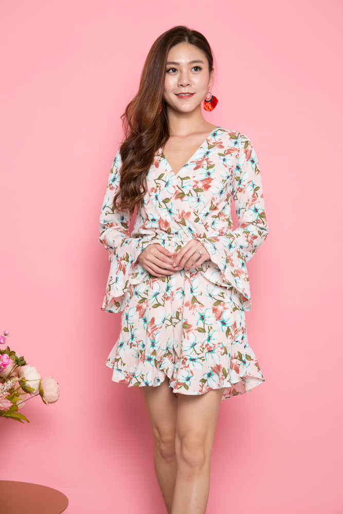 Load image into Gallery viewer, Joey Printed Floral Romper