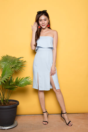 Fierlyn Slit Dress in Blue