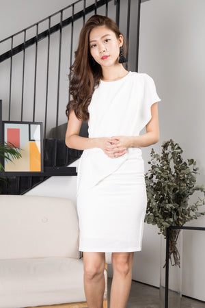 Rena Corporate Dress in White