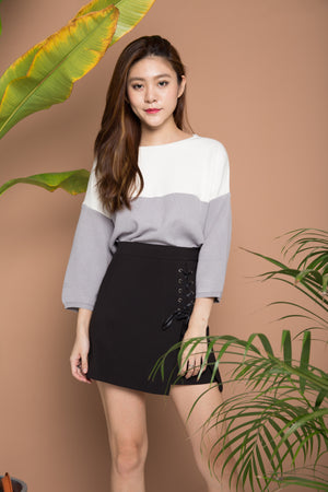 Annacell Duo Tone Knit Top