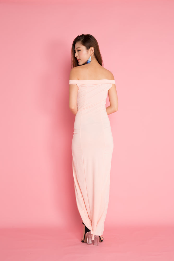 Load image into Gallery viewer, Miesa Slit Gown Dress in Pink