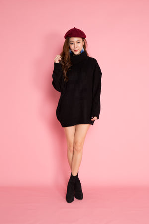 Imela Knit Tunic in Black